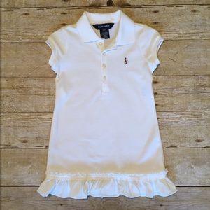 Ralph Lauren white polo dress size 3T